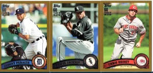 '11 Topps Series 2 Gold parallels