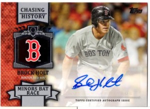 '13 Topps Brock Holt Auto