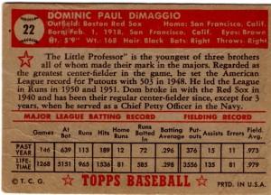 '52 Topps DiMaggio-back