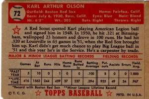 '52 Topps Olson-back