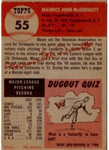 '53 Topps McDermott-back